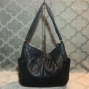 Cole Haan Black Leather Slouchy Handbag